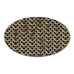Sparkling Metal Chains 01a Oval Magnet