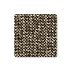Sparkling Metal Chains 01a Square Magnet