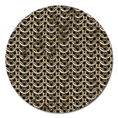 Sparkling Metal Chains 01a Magnet 5  (round)