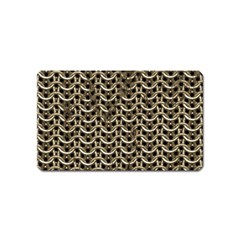 Sparkling Metal Chains 01a Magnet (name Card)
