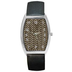 Sparkling Metal Chains 01a Barrel Style Metal Watch