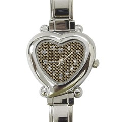 Sparkling Metal Chains 01a Heart Italian Charm Watch