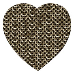Sparkling Metal Chains 01a Jigsaw Puzzle (heart)