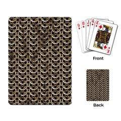 Sparkling Metal Chains 01a Playing Card