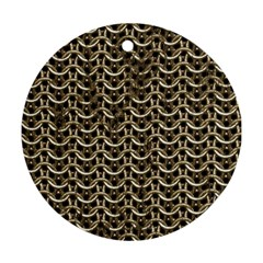 Sparkling Metal Chains 01a Round Ornament (two Sides)