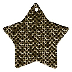 Sparkling Metal Chains 01a Star Ornament (two Sides)