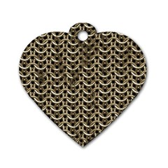 Sparkling Metal Chains 01a Dog Tag Heart (one Side)