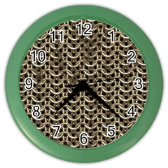 Sparkling Metal Chains 01a Color Wall Clocks