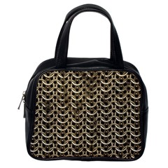 Sparkling Metal Chains 01a Classic Handbags (one Side)