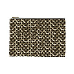 Sparkling Metal Chains 01a Cosmetic Bag (large)