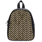 Sparkling Metal Chains 01a School Bag (Small) Front