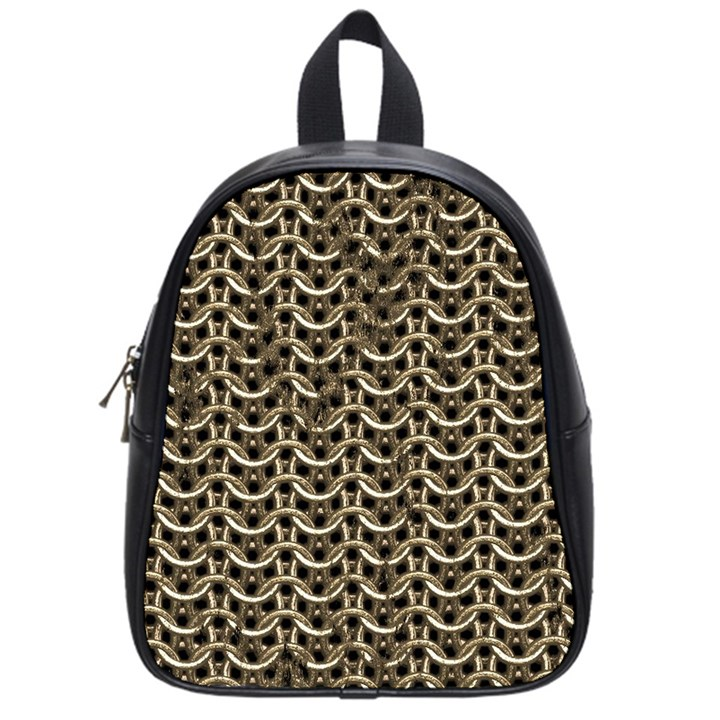 Sparkling Metal Chains 01a School Bag (Small)