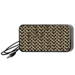 Sparkling Metal Chains 01a Portable Speaker (black)