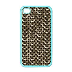 Sparkling Metal Chains 01a Apple Iphone 4 Case (color)