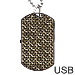 Sparkling Metal Chains 01a Dog Tag Usb Flash (one Side)