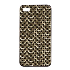 Sparkling Metal Chains 01a Apple Iphone 4/4s Seamless Case (black)