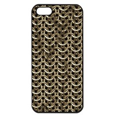 Sparkling Metal Chains 01a Apple Iphone 5 Seamless Case (black)