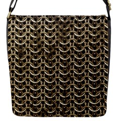 Sparkling Metal Chains 01a Flap Messenger Bag (s)