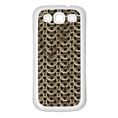 Sparkling Metal Chains 01a Samsung Galaxy S3 Back Case (white)