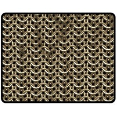Sparkling Metal Chains 01a Double Sided Fleece Blanket (medium)