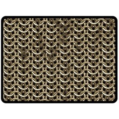 Sparkling Metal Chains 01a Double Sided Fleece Blanket (large)