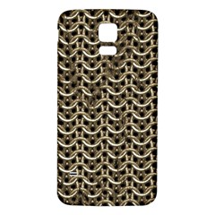 Sparkling Metal Chains 01a Samsung Galaxy S5 Back Case (white)