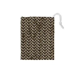 Sparkling Metal Chains 01a Drawstring Pouches (small)