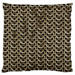 Sparkling Metal Chains 01a Large Flano Cushion Case (two Sides)