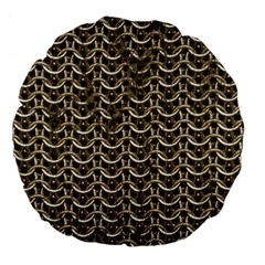 Sparkling Metal Chains 01a Large 18  Premium Flano Round Cushions