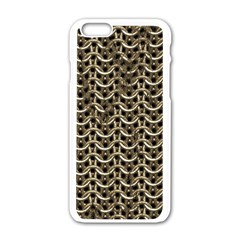 Sparkling Metal Chains 01a Apple Iphone 6/6s White Enamel Case