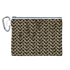 Sparkling Metal Chains 01a Canvas Cosmetic Bag (l)