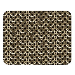 Sparkling Metal Chains 01a Double Sided Flano Blanket (large)