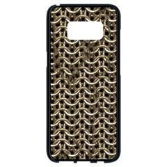 Sparkling Metal Chains 01a Samsung Galaxy S8 Black Seamless Case