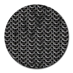 Sparkling Metal Chains 01b Round Mousepads