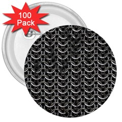 Sparkling Metal Chains 01b 3  Buttons (100 Pack)