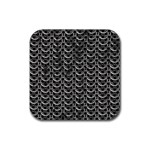 Sparkling Metal Chains 01b Rubber Coaster (Square)  Front