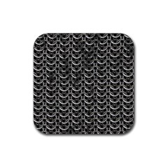Sparkling Metal Chains 01b Rubber Square Coaster (4 Pack)