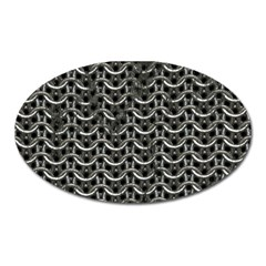 Sparkling Metal Chains 01b Oval Magnet