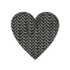 Sparkling Metal Chains 01b Heart Magnet