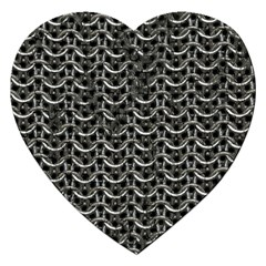 Sparkling Metal Chains 01b Jigsaw Puzzle (heart)