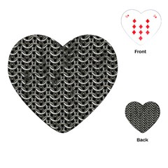 Sparkling Metal Chains 01b Playing Cards (heart)