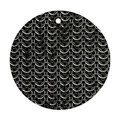 Sparkling Metal Chains 01b Round Ornament (two Sides)