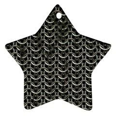 Sparkling Metal Chains 01b Star Ornament (two Sides)