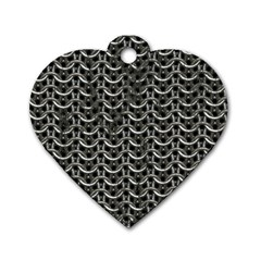 Sparkling Metal Chains 01b Dog Tag Heart (two Sides)