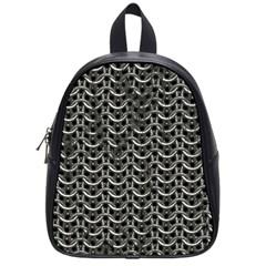 Sparkling Metal Chains 01b School Bag (small)
