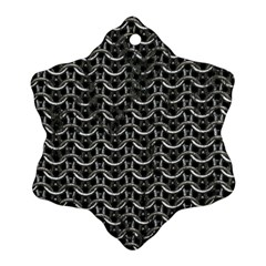 Sparkling Metal Chains 01b Ornament (snowflake)