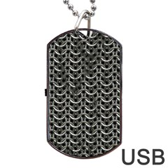 Sparkling Metal Chains 01b Dog Tag Usb Flash (one Side)