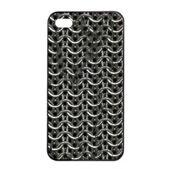 Sparkling Metal Chains 01b Apple Iphone 4/4s Seamless Case (black)
