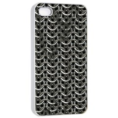 Sparkling Metal Chains 01b Apple Iphone 4/4s Seamless Case (white)