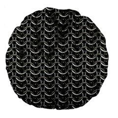 Sparkling Metal Chains 01b Large 18  Premium Round Cushions